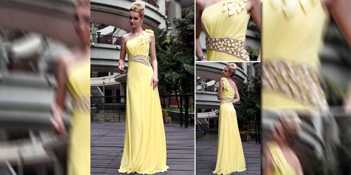 Free-Shipping-2012-New-Arrival-Stretch-Velvet-One-Shoulder-Yellow ...
