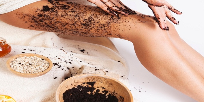 Coffee as a scrub