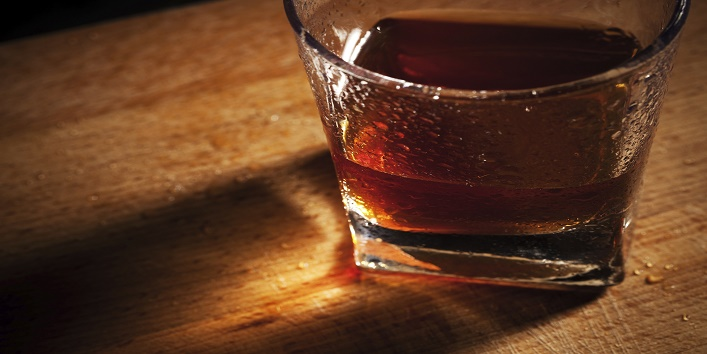whisky on a wooden table