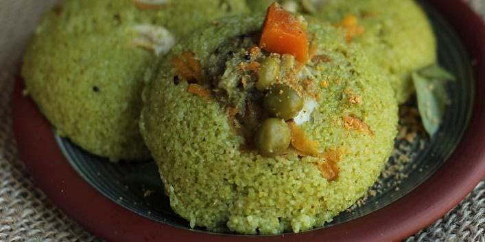 Healthy and tasty palak idli2