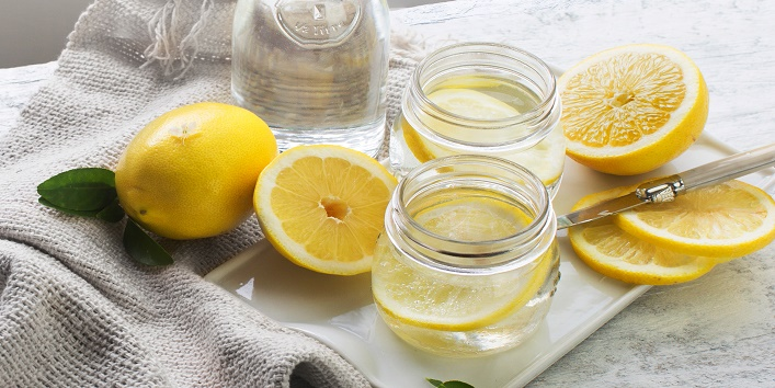 Lemon for exfoliation and accumulating dirt