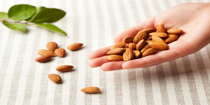 Almonds paste for healthy skin and improved texture