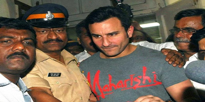 Saif Ali Khan For Breaking a Man's Nose at Restaurant