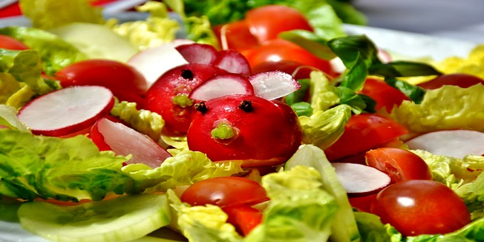 Eating salads keeps you away from diseases