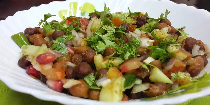 Quick Recipe Sprouted Kala Chana Salad Recipe content