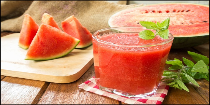 Watermelon juice and cumin seeds face mask