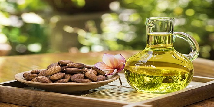 With-almond-oil